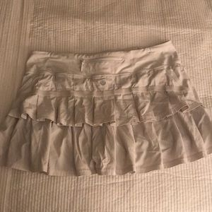 White Lululemon skirt size 6